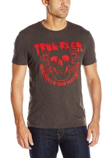 True Religion Men's Skull T-Shirt used Black M