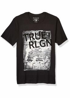 True Religion Men's SS Newspaper TR TEE  M