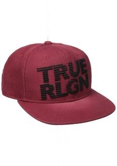 True Religion Men's Super Twill Flat Brim Cap