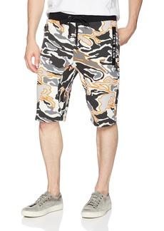 True Religion Men's Sweat Short Multi/Grey camo XL
