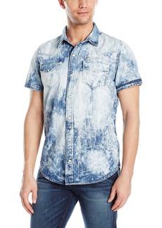 True Religion Men's Triple Needle SS Western Shirt