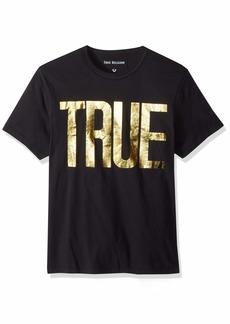 True Religion Men's True Logo Tee Black XXL