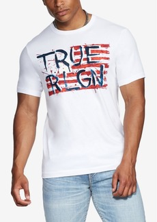 True Religion Men's True Rlgn Pained Flag T-Shirt