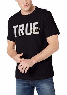True Religion Men's True Slogan Short Sleeve Crew Neck TEE  L