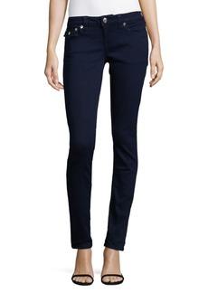 True Religion Mid Rise Skinny Flap Denim Jeans