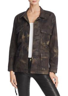 True Religion Military Coated Camouflage Jacket