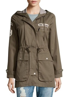 True Religion Military Patch Cotton Parka