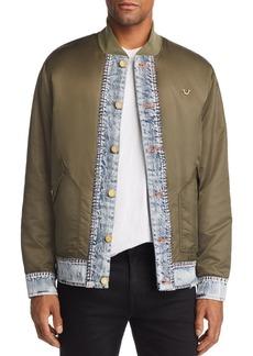 True Religion Mixed-Media Bomber Jacket