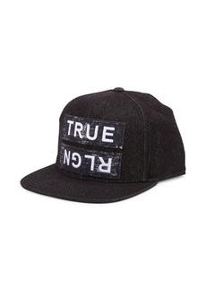 True Religion Paper Patch Cotton Baseball Cap