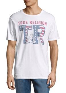 True Religion Printed Cotton Tee