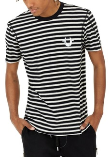 True Religion Raw-Edge Striped T-Shirt