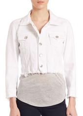 True Religion Raw Edged Dari Boxy Shirt Jacket