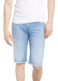 True Religion Brand Jeans Ricky Cutoff Denim Shorts (Worn Bright Sunlight)