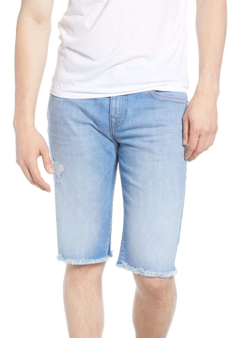 True Religion Brand Jeans Ricky Cutoff Denim Shorts (Worn Bright Sunlight)