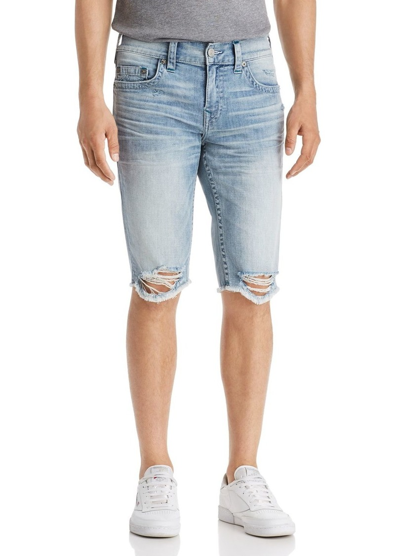 True Religion Ricky No Flap Slim Fit Cutoff Denim Shorts
