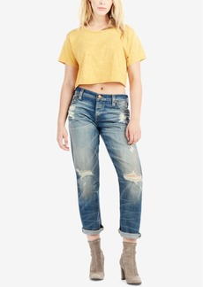 True Religion Ripped Boyfriend Jeans
