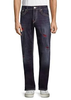 True Religion Big T Straight-Leg Ripped Jeans