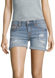 True Religion Ripped Jean Shorts