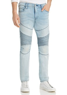 True Religion Rocco Classic Moto Skinny Fit Jeans in Silver Moon