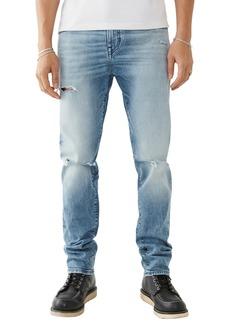 True Religion Rocco Renegade Ripped Skinny Jeans (Light Sun Blaze)