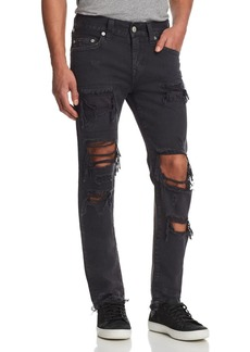 True Religion Rocco Slim Fit Jeans in Black Volcanic Ash