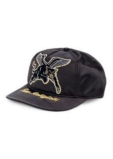 True Religion Satin Tiger Baseball Cap