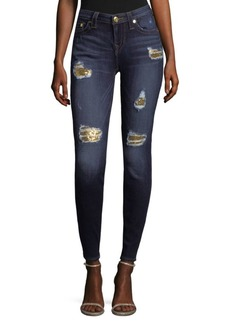 True Religion Sequin Skinny Jeans