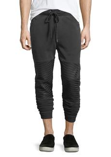 True Religion Slim-Fit Cuffed Moto Jogger Pants