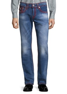 True Religion Straight-Leg Chainstitch Jeans