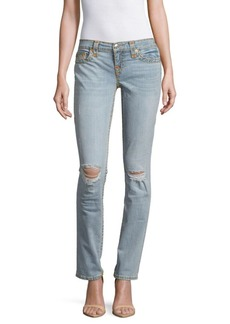 True Religion Slim Straight Distressed Jeans