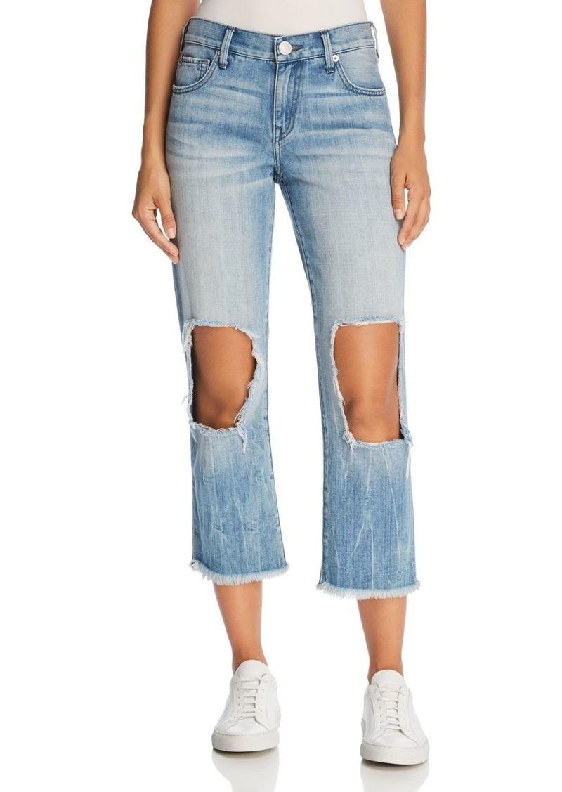 True Religion Star Crop Straight Jeans in Second Quarter