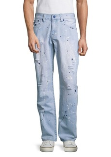 True Religion Big T Straight-Fit Distressed Jeans