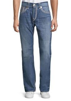 True Religion Straight Leg Contrast-Stitch Jeans