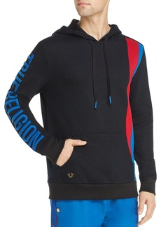 True Religion Stripe-Accented Hooded Sweatshirt