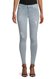 True Religion Super Skinny Distressed Stretch Jeans