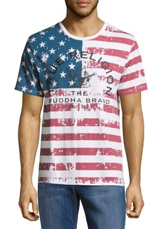 True Religion USA Flag Cotton Tee