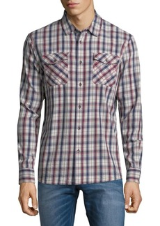 True Religion Utility Plaid Button-Up Shirt