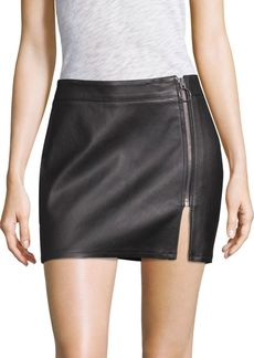 True Religion Vegan Leather Mini Skirt