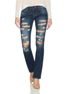 True Religion Women's Billie Mid Rise Staight Leg Jean