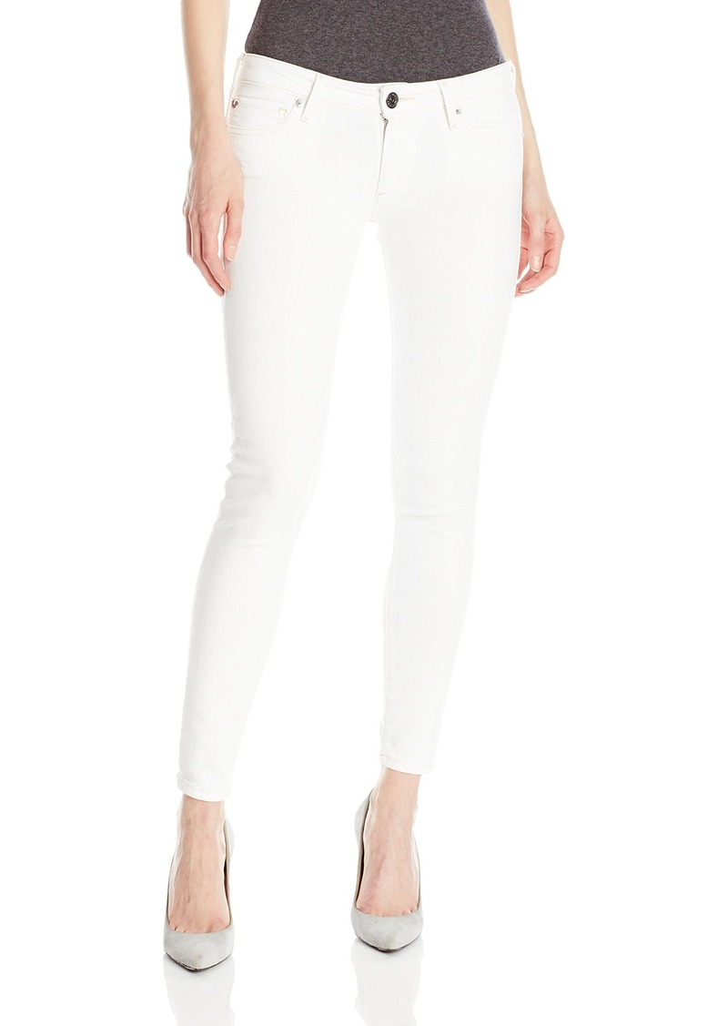 True Religion Women's Casey Low Rise Super Skinny Jean with Flap White