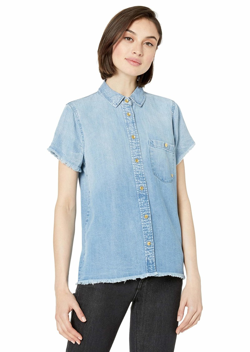 True Religion Women's Chambray Utility Top  XL
