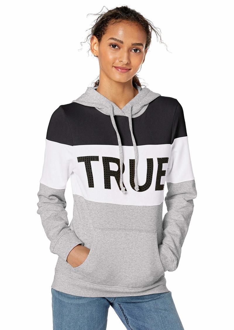 True Religion Women's Colorblock Pullover Hoodie  M
