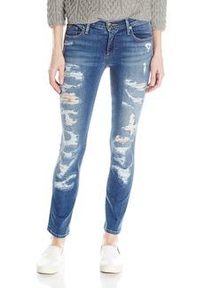 True Religion Women's Cora Mid Rise Straight Crop Jean In