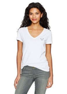 True Religion Women's Crafted with Pride Vneck Tee