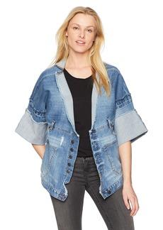 True Religion Women's Deconstructed Indigo Jacket  S