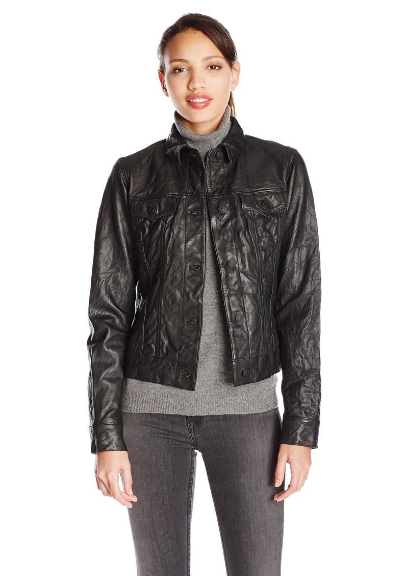 True Religion Women's Dusty Western Leather Jacket