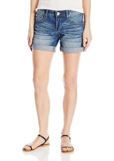 True Religion Women's Emma Mid Rise Bermuda Shorts with Flaps