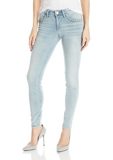 True Religion Women's Halle Mid Rise Super Skinny Jean