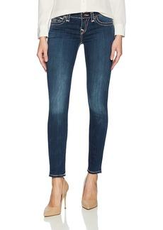 True Religion Women's Halle Mid Rise Super T Skinny Jean