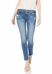 True Religion Women's Jennie Curvy Skinny Jean Luminosity w/Destroy